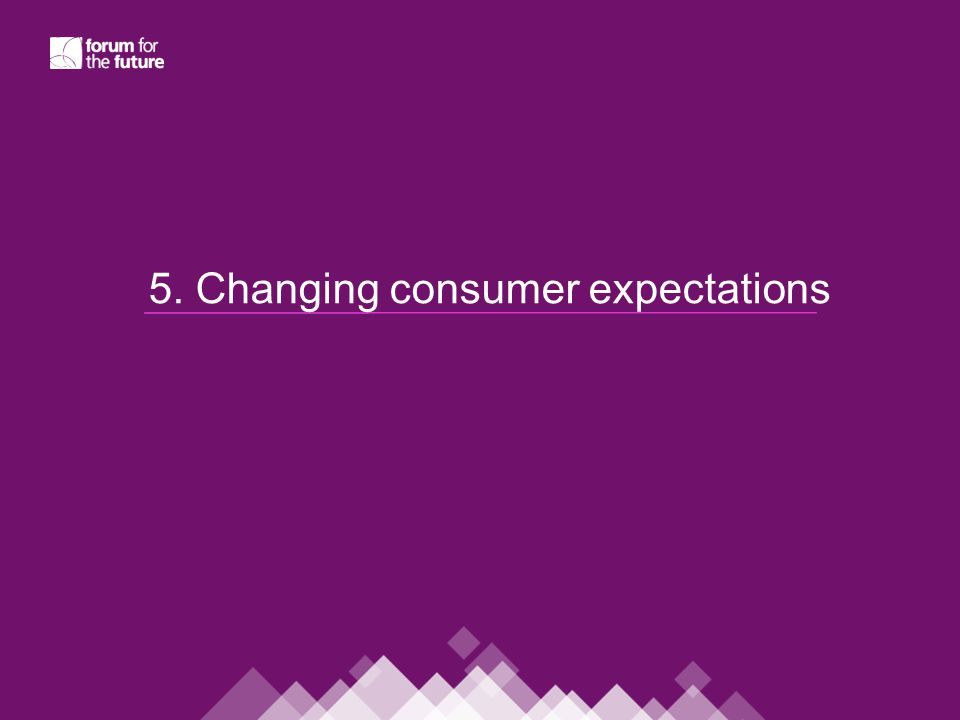 5. Changing consumer expectations