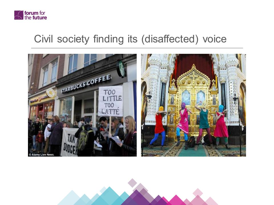 Civil society finding its (disaffected) voice