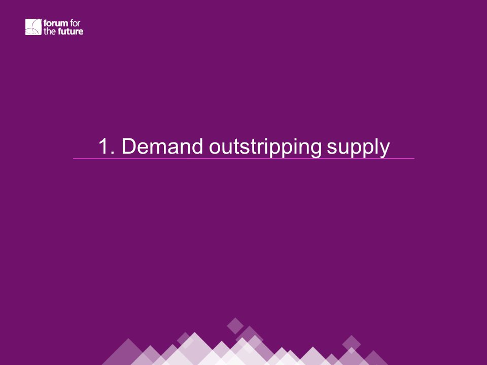 1. Demand outstripping supply