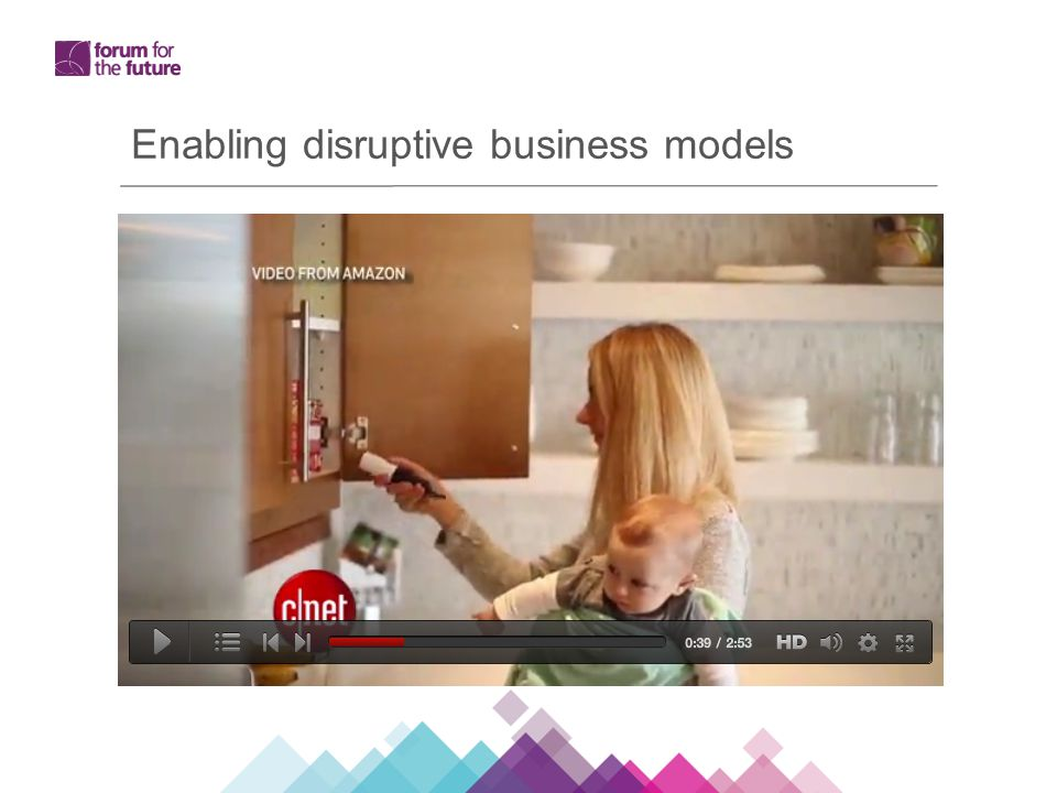 Enabling disruptive business models