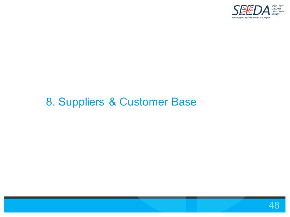 48 8. Suppliers & Customer Base