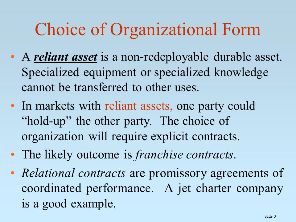 Slide 4 Vertical Requirements Contract A vertical requirements contract is one in which the firms in successive stages of production agree to payments and/or penalties for taking an action.