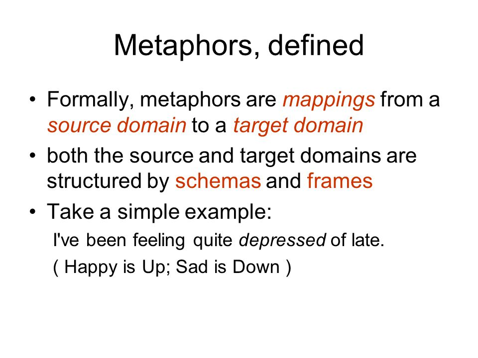 What is the basis for metaphors? metaphor is understanding one thing in terms of another specifically, we reason about abstract concepts through our s
