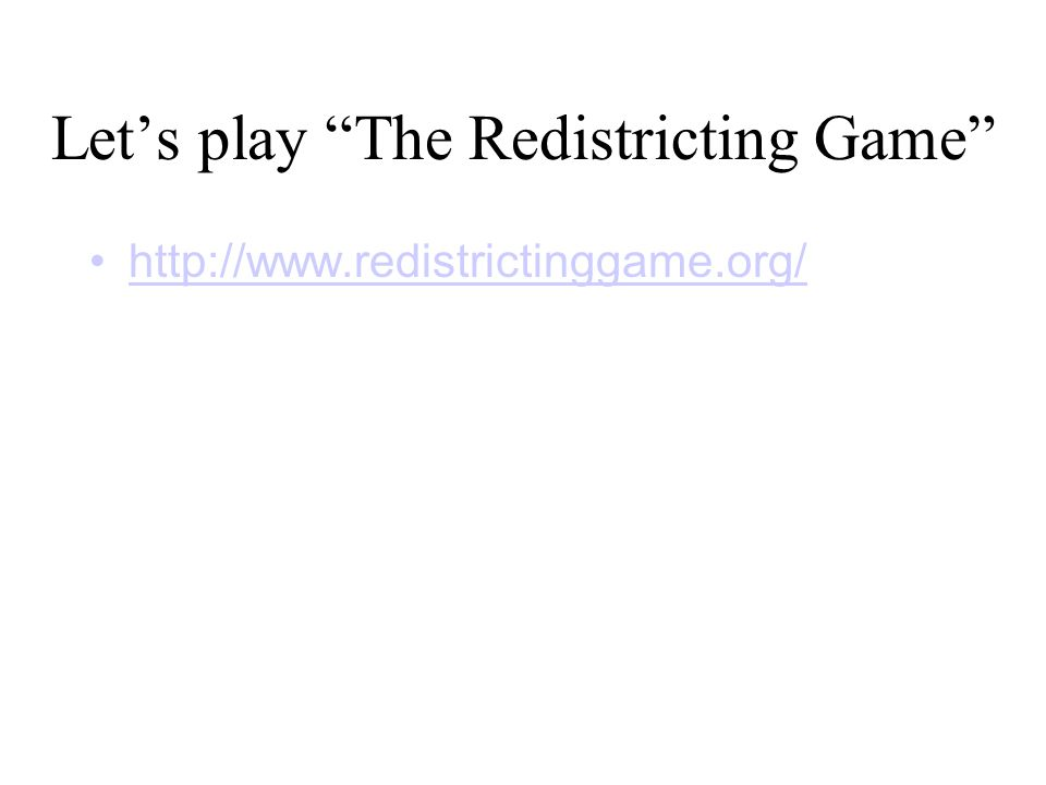 Let's play The Redistricting Game http://www.redistrictinggame.org/