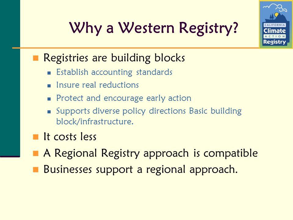Why a Western Registry.