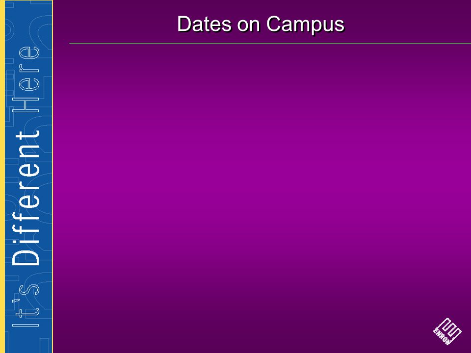 Dates on Campus