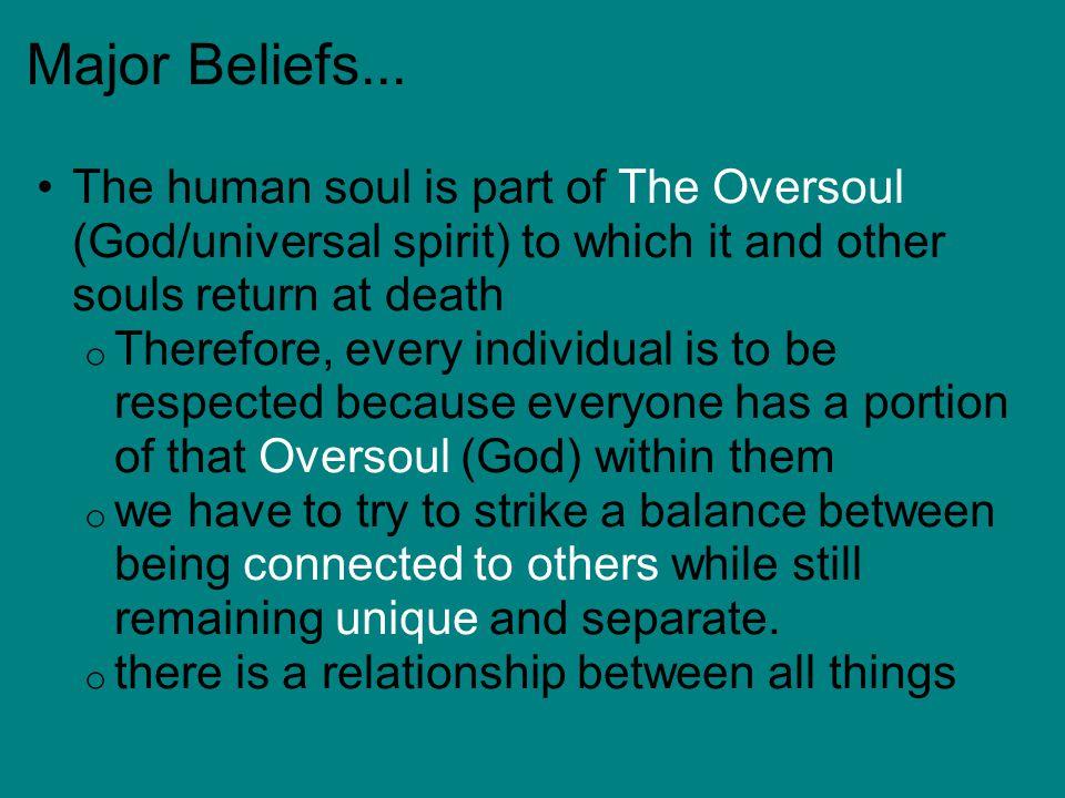 Major Beliefs...