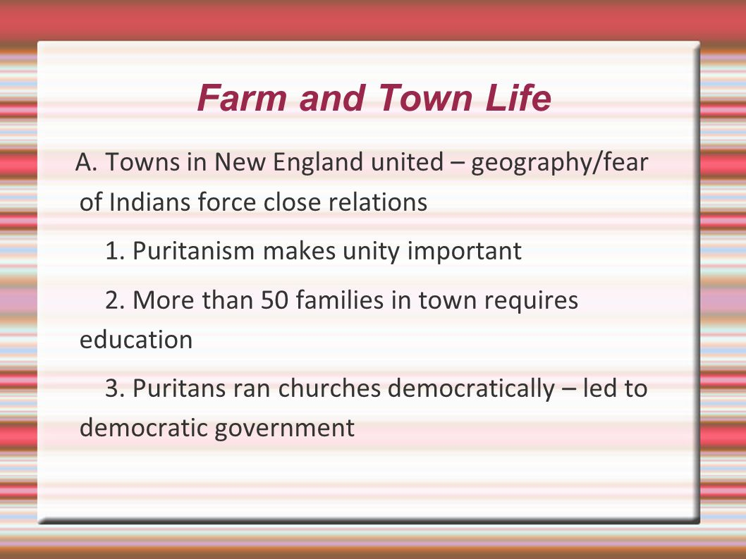 Farm and Town Life A.