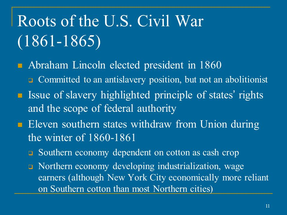 Roots of the U.S.