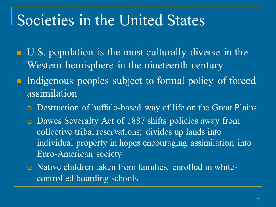 Societies in the United States U.S.
