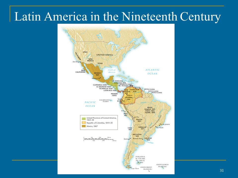 Latin America in the Nineteenth Century 31