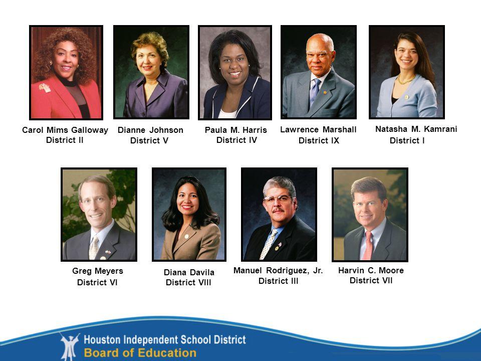District II District VIII District III District VII District IDistrict V District VI District IX District IV Carol Mims GallowayDianne JohnsonPaula M.