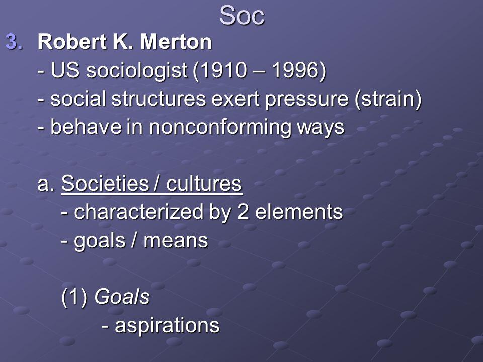 Soc 3.Robert K.