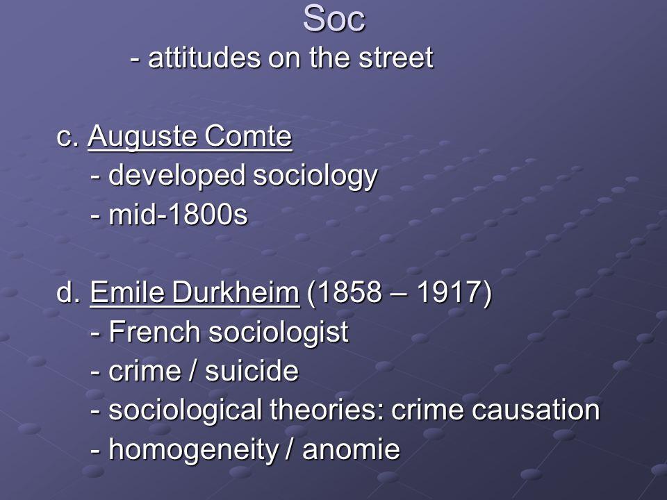 Soc - attitudes on the street - attitudes on the street c.