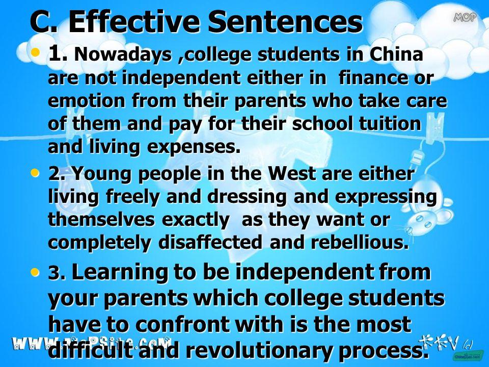 C. Effective Sentences 1.