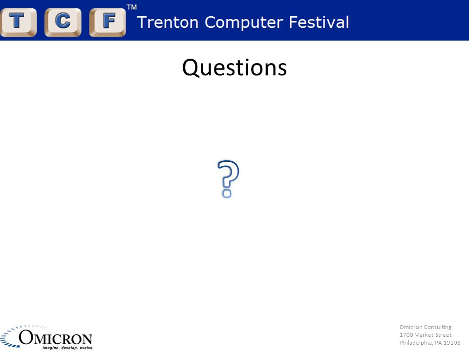 Omicron Consulting 1700 Market Street Philadelphia, PA 19103 Questions