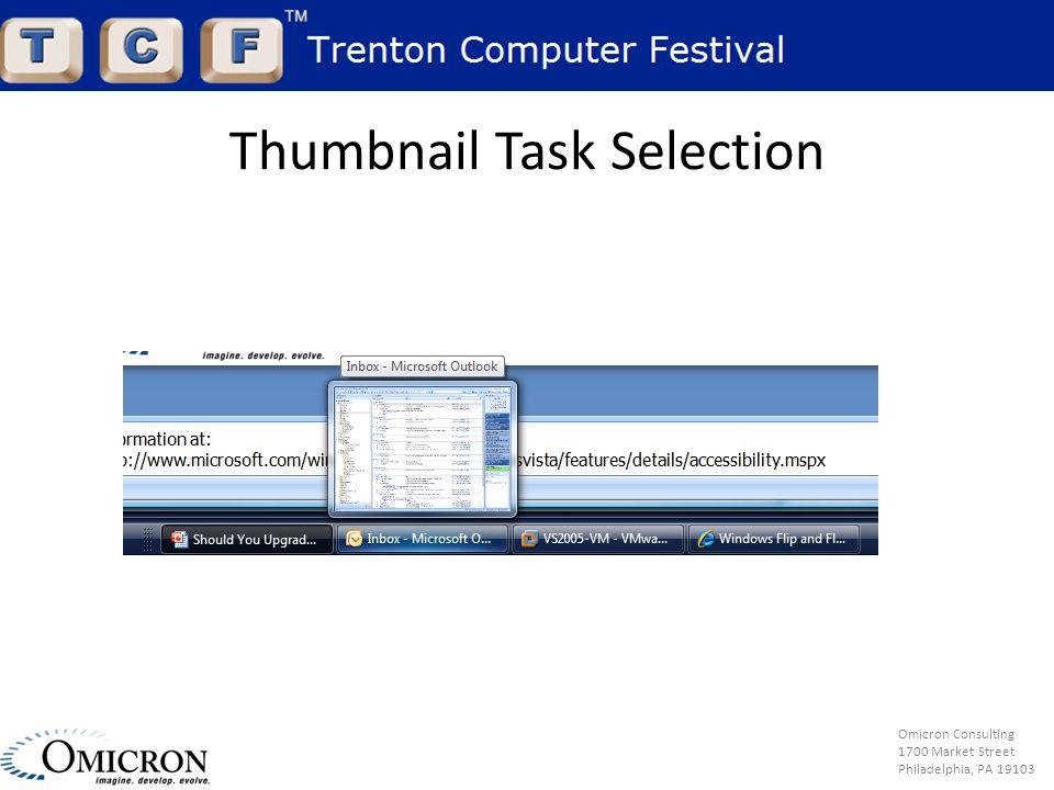 Omicron Consulting 1700 Market Street Philadelphia, PA 19103 Thumbnail Task Selection