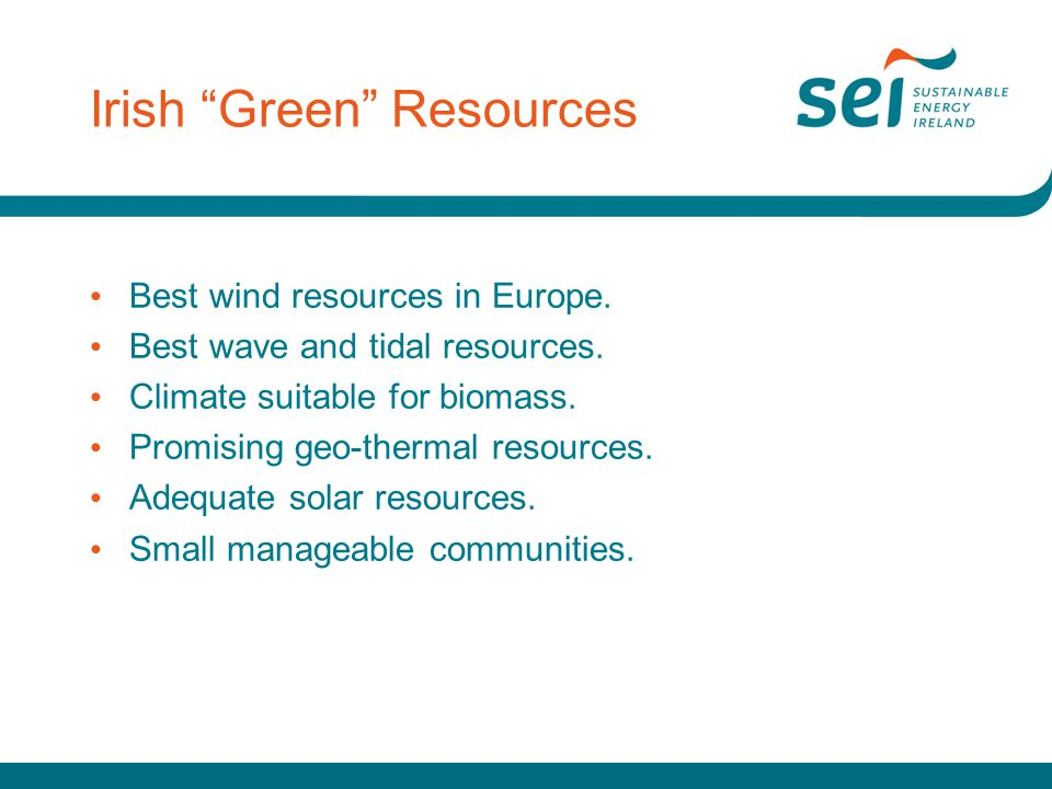 Irish Green Resources Best wind resources in Europe.