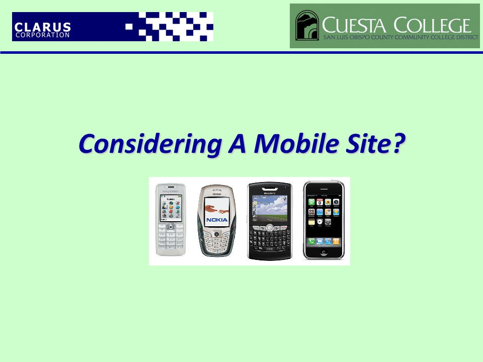 Considering A Mobile Site