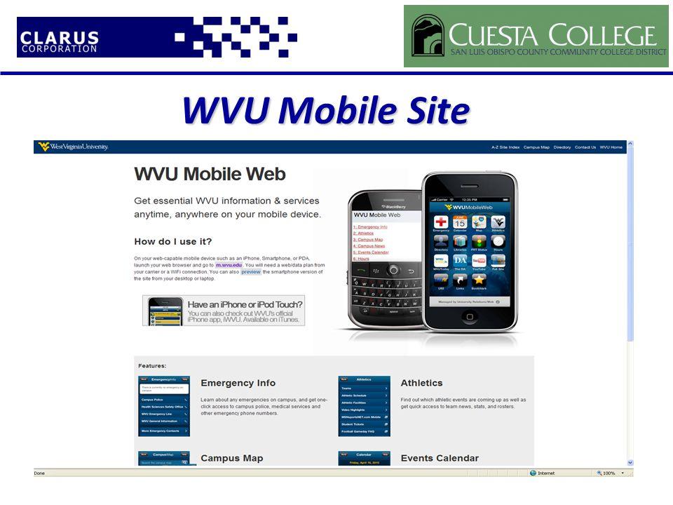 WVU Mobile Site