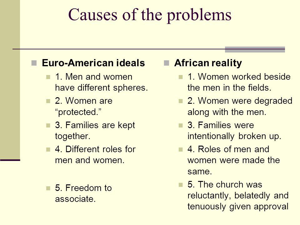 Women faced problems 1. Race 2. Class 3. Gender