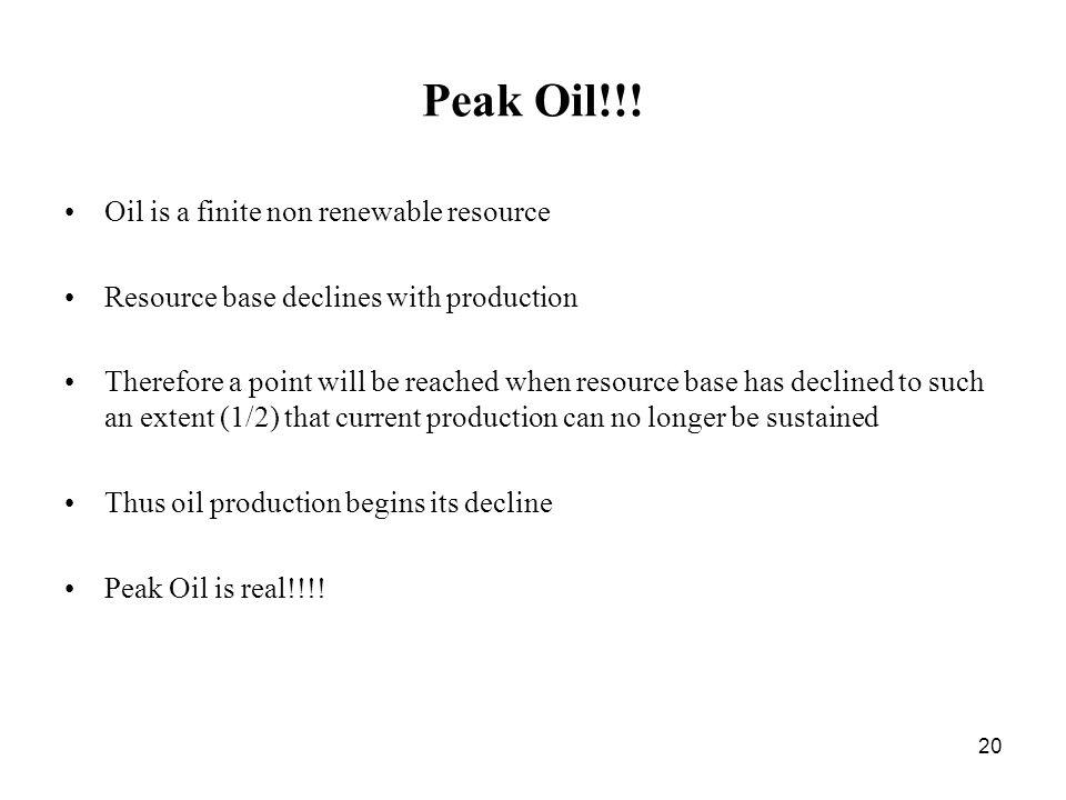 20 Peak Oil!!.