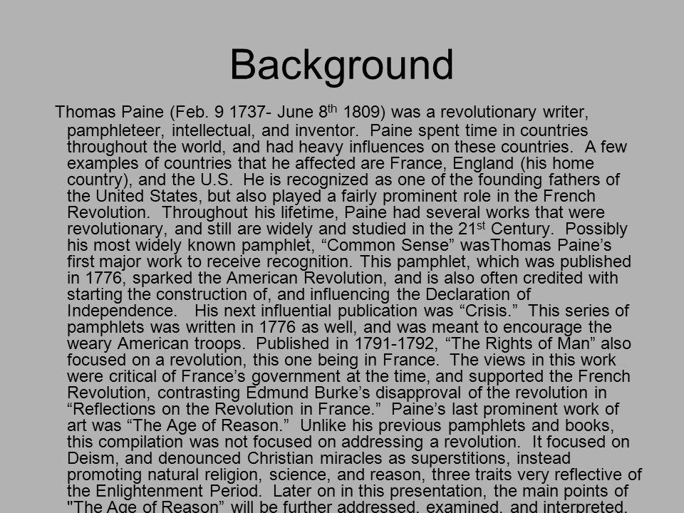 Background Thomas Paine (Feb.