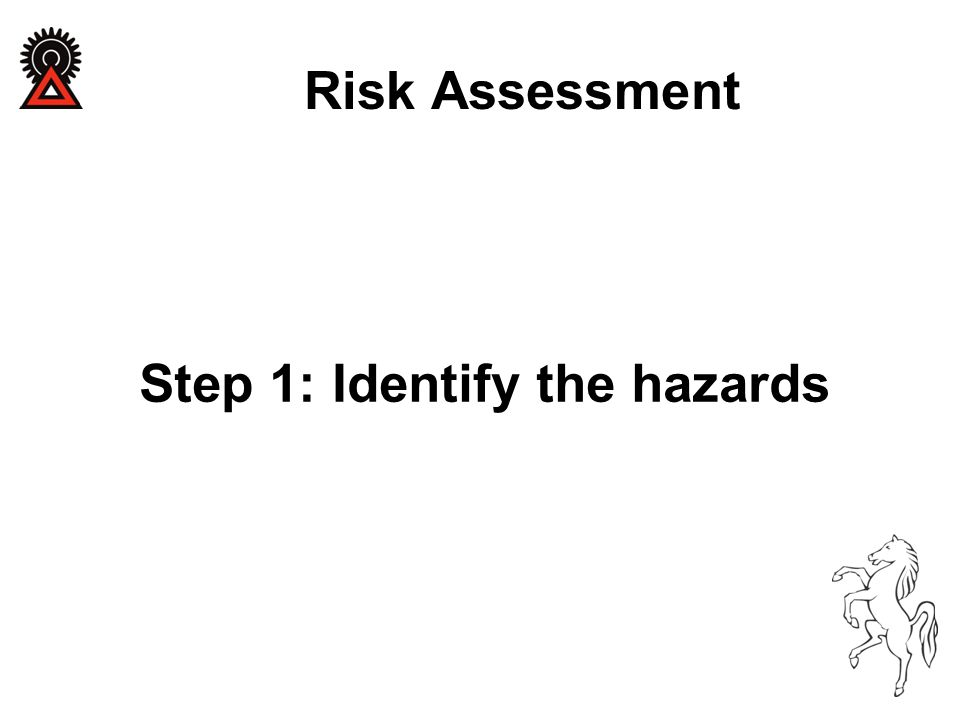 Step 1: Identify the hazards Risk Assessment