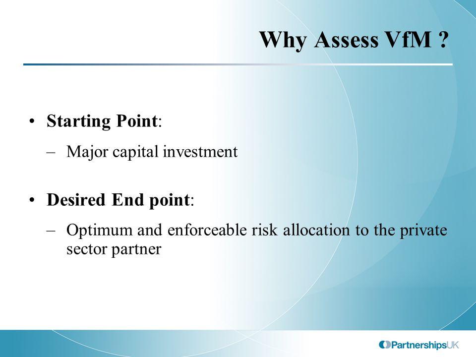 Why Assess VfM .