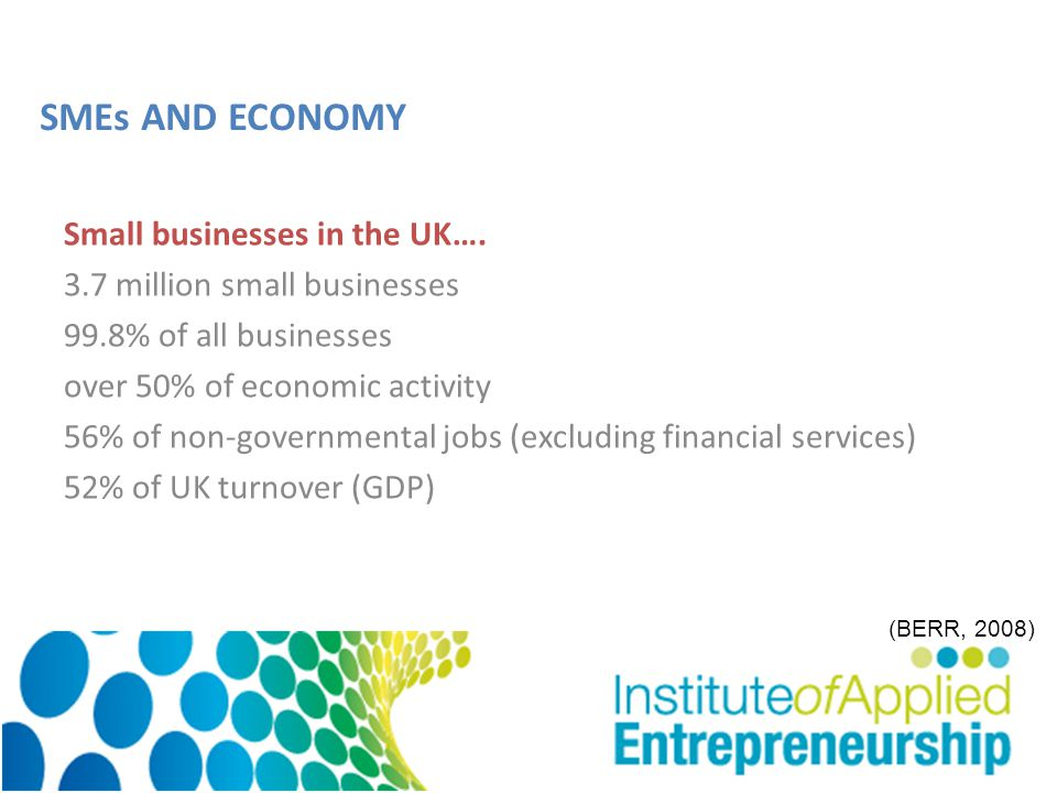 Small businesses in the UK….