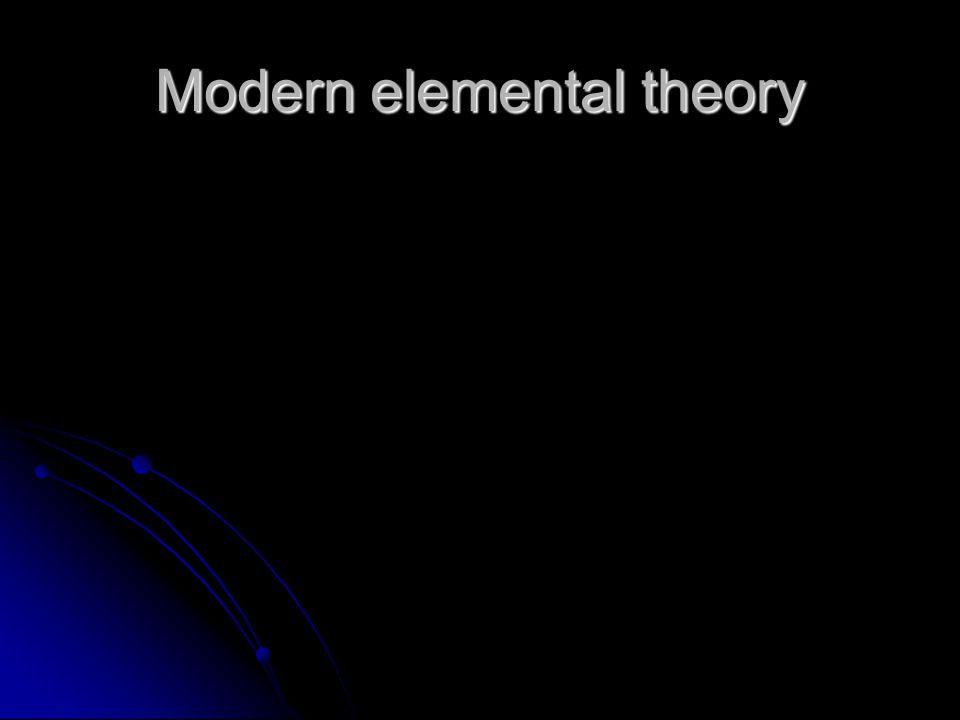 Modern elemental theory