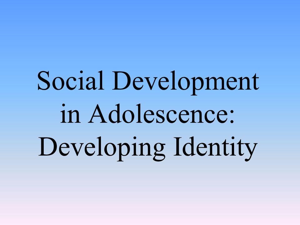Social Development in Adolescence: Developing Identity