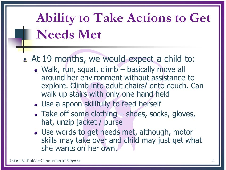 Infant & Toddler Connection of Virginia 6 KeAsia's Annual Assessment Please click on the link to watch KeAsia's annual assessment.