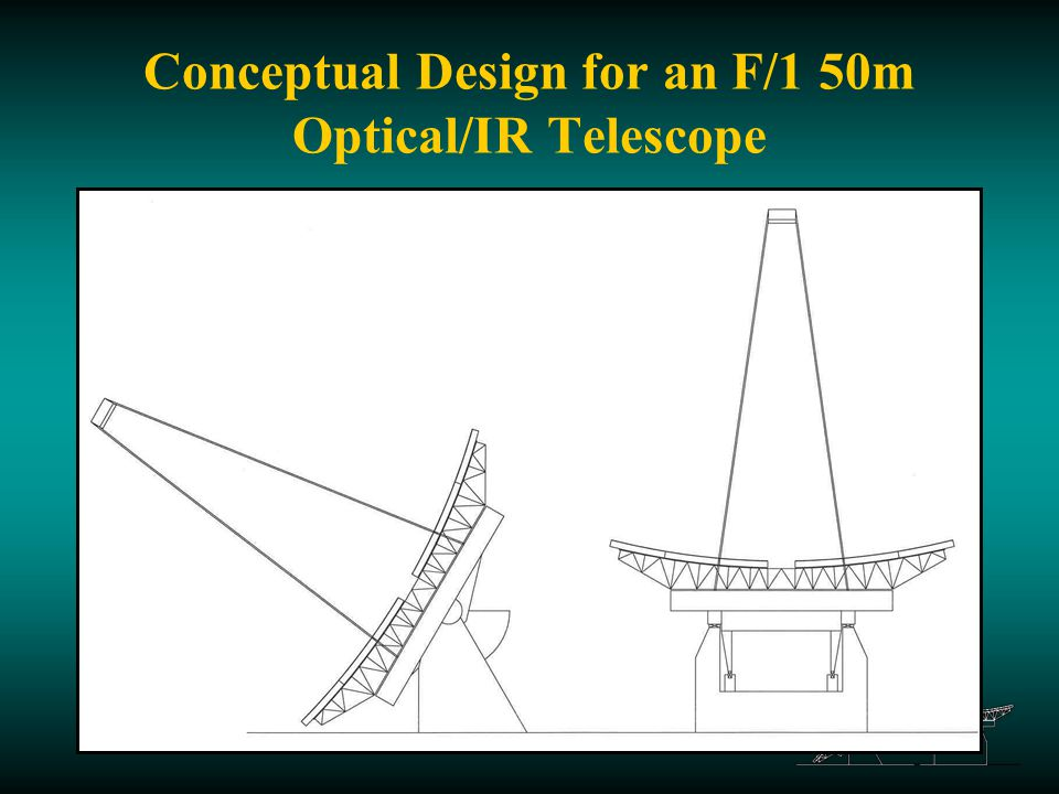 40 Conceptual Design for an F/1 50m Optical/IR Telescope