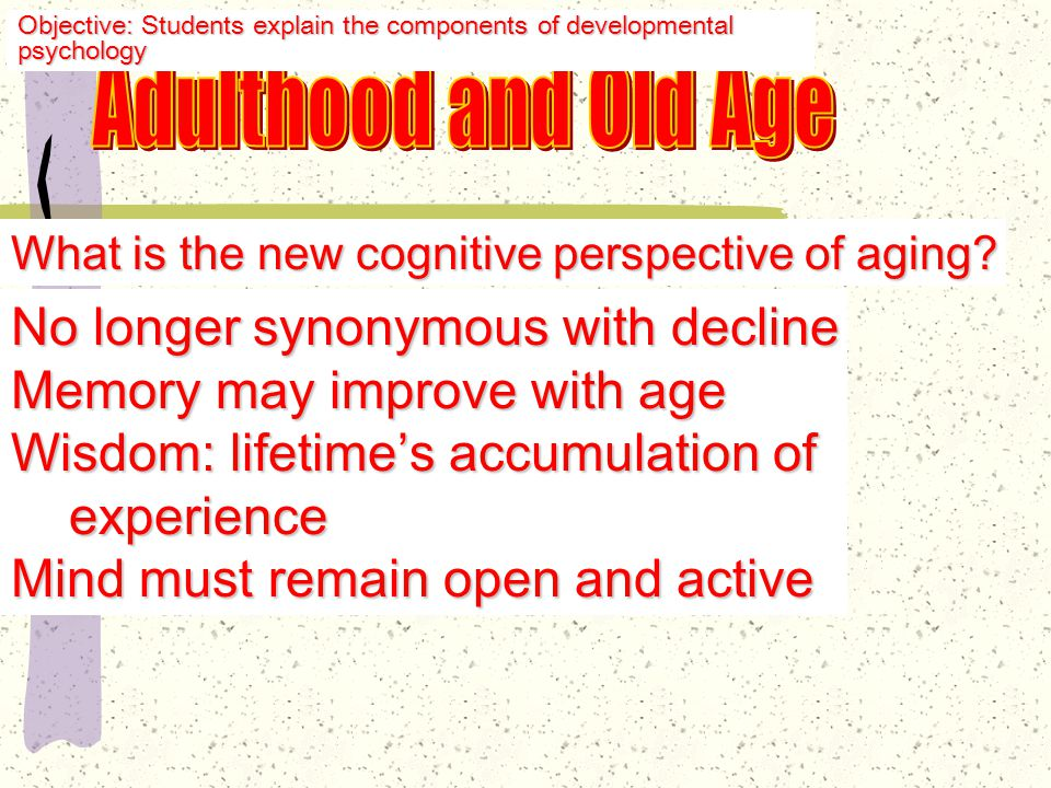 Erik Erikson Later Adulthood: Ego Integrity v.