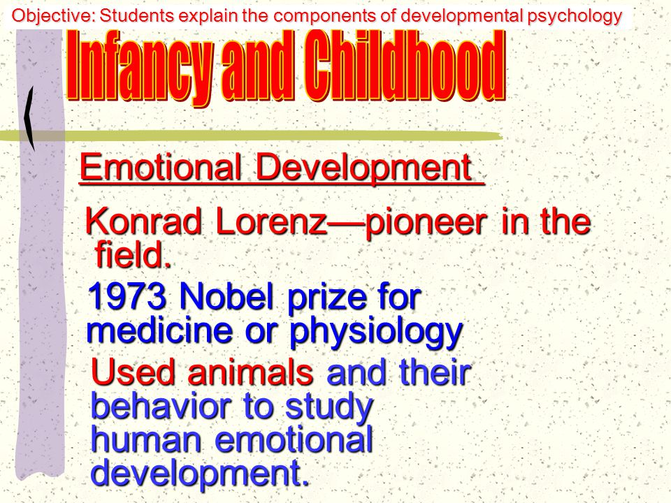 Synchronicity: close coordination between the gazing, vocalizing, touching and smiling of mothers and infants—babies respond and learn, but also send out messages to those willing to listen and love them Objective: Students explain the components of developmental psychology