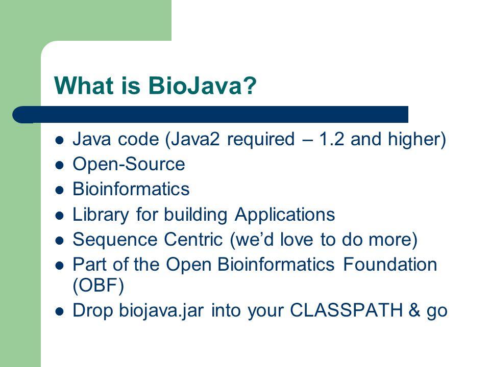 Where is BioJava.