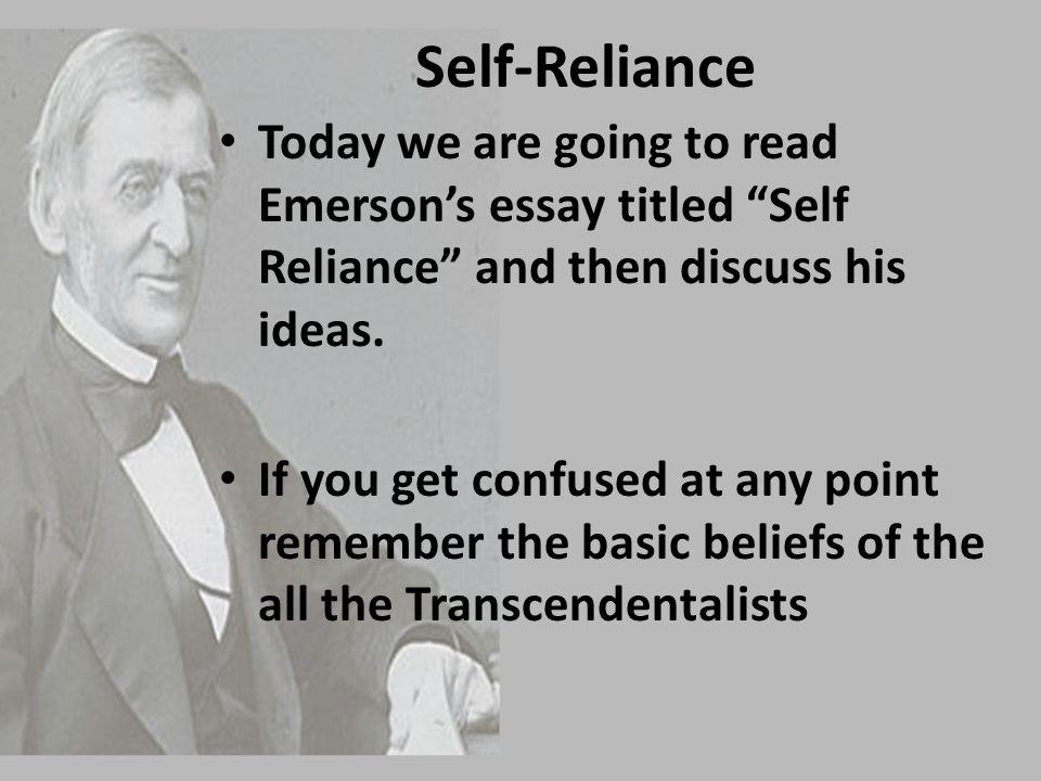 Essay on self reliance