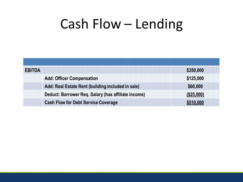 Cash Flow – Lending