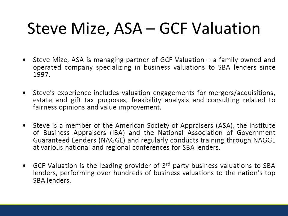Cash Flow – Valuations