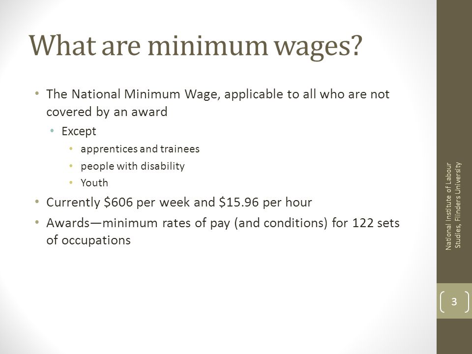 What are minimum wages.