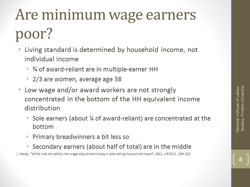 Are minimum wage earners poor.