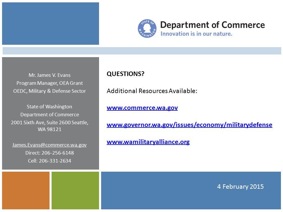 4 February 2015 QUESTIONS.