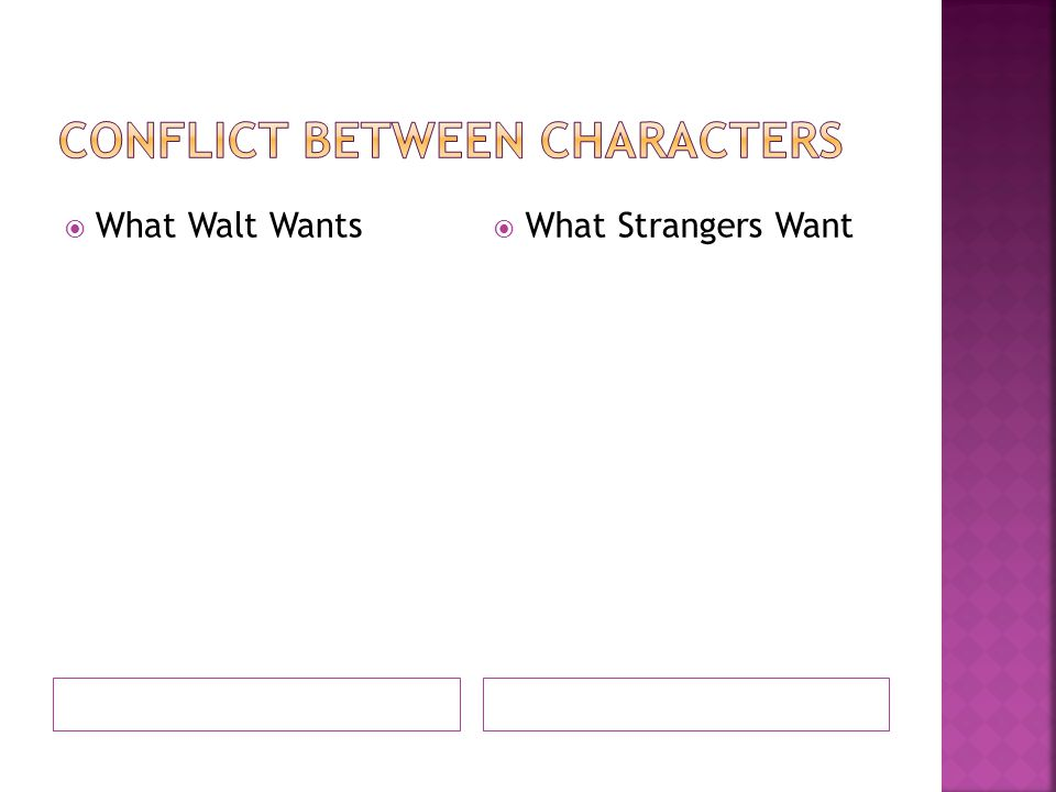  What Walt Wants  What Strangers Want