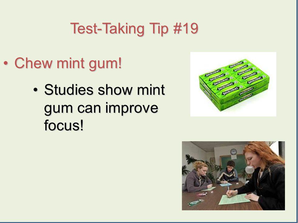 Urry 2009 Chew mint gum!Chew mint gum.