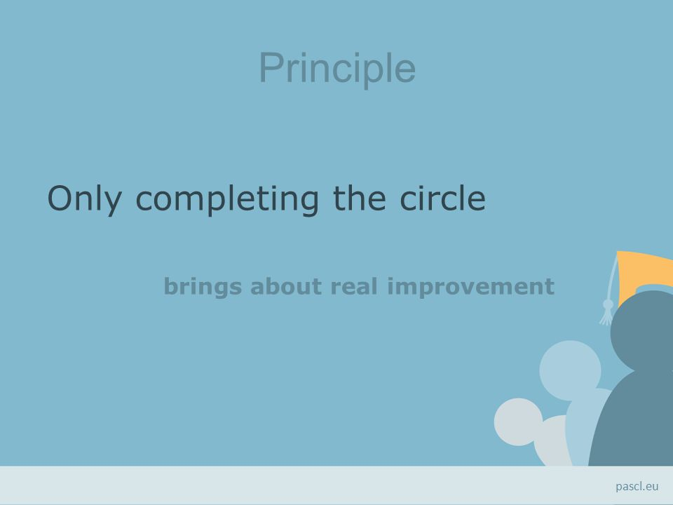 Principle Only completing the circle brings about real improvement pascl.eu
