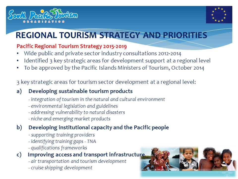 REGIONAL PRIORITY ACTIONS To support Global Action for Sustainable Consumption and Production: 1.Support and strengthen tourism planning controls, policies and development regulations and seek to incorporate these into national and local level tourism planning 2.