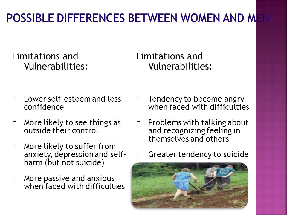 Limitations and Vulnerabilities:  Lower self-esteem and less confidence  More likely to see things as outside their control  More likely to suffer