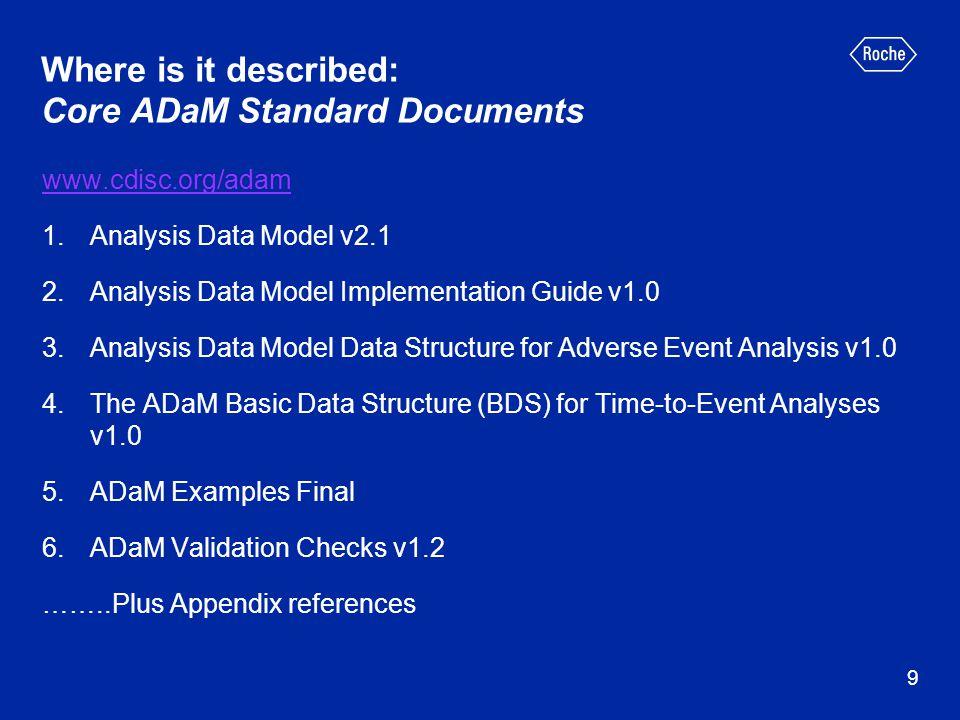 Example of metadata for param codes – value level metadata 20