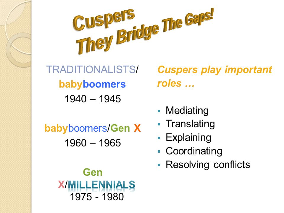 Cuspers play important roles …  Mediating  Translating  Explaining  Coordinating  Resolving conflicts